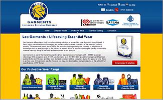 Website Design Leo Garments