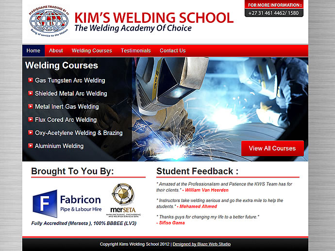Website design Kims welding