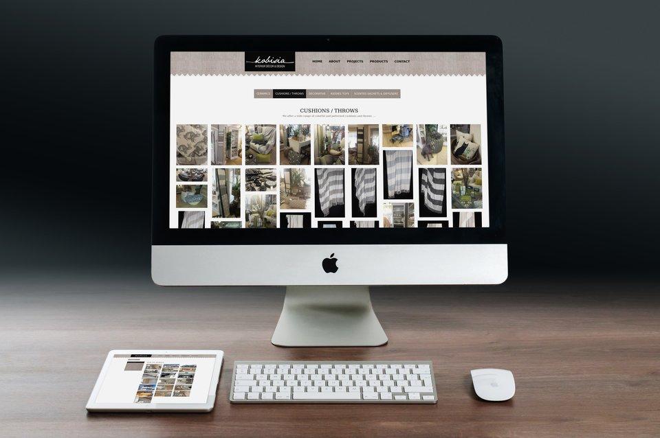 Kobisia interiors blaze web studio for Interior design web site
